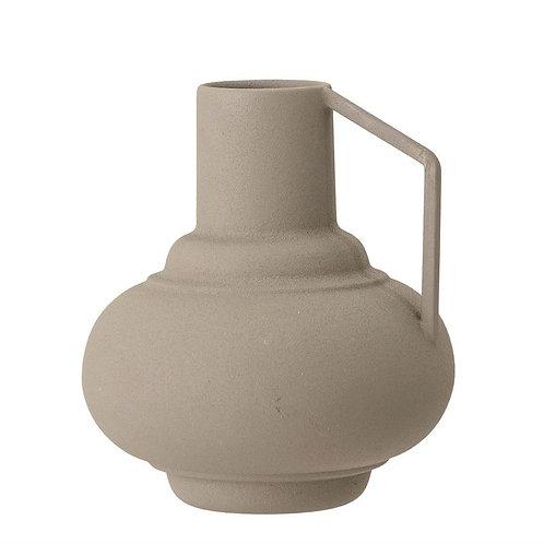 Sage Textured Metal Vase