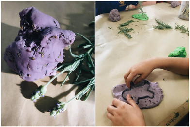 Lavender Scented No Cook Play Dough