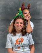 Sav, Yoga & Wellness (front). Helena, volunteer (back).