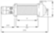 Schéma du treuil hydraulique Mile Marker HI 9000