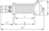 Schéma du treuil hydraulique Mile Marker HI 10 500