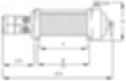Schéma du treuil hydraulique Mile Marker H 10 500
