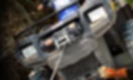 Treuil électrique Mile Marker PE2.5 en action sur  un quad