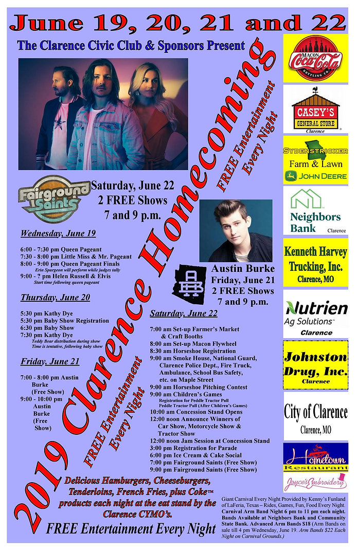 2019 Clarence Homecoming Poster#2 - Page
