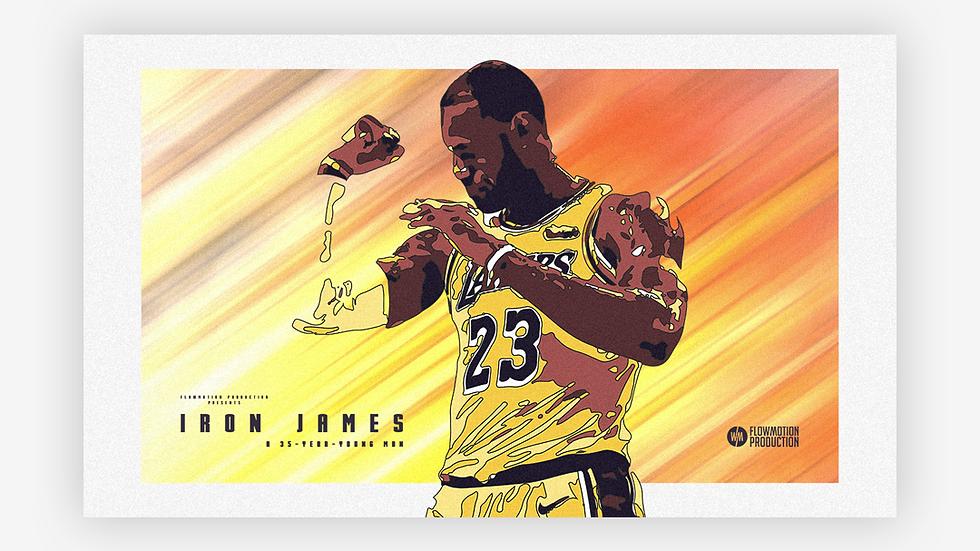 Affiche (V2) Iron James (LeBron James)