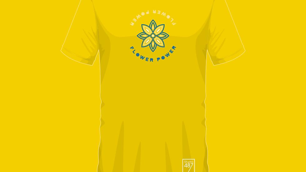 Tee-Shirt Flower Power (Jaune)