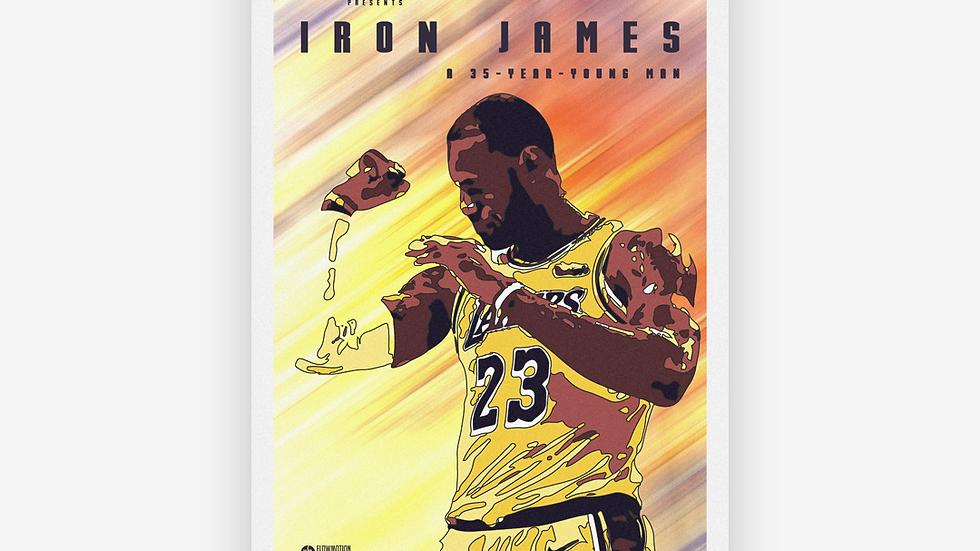 Affiche Iron James (LeBron James)