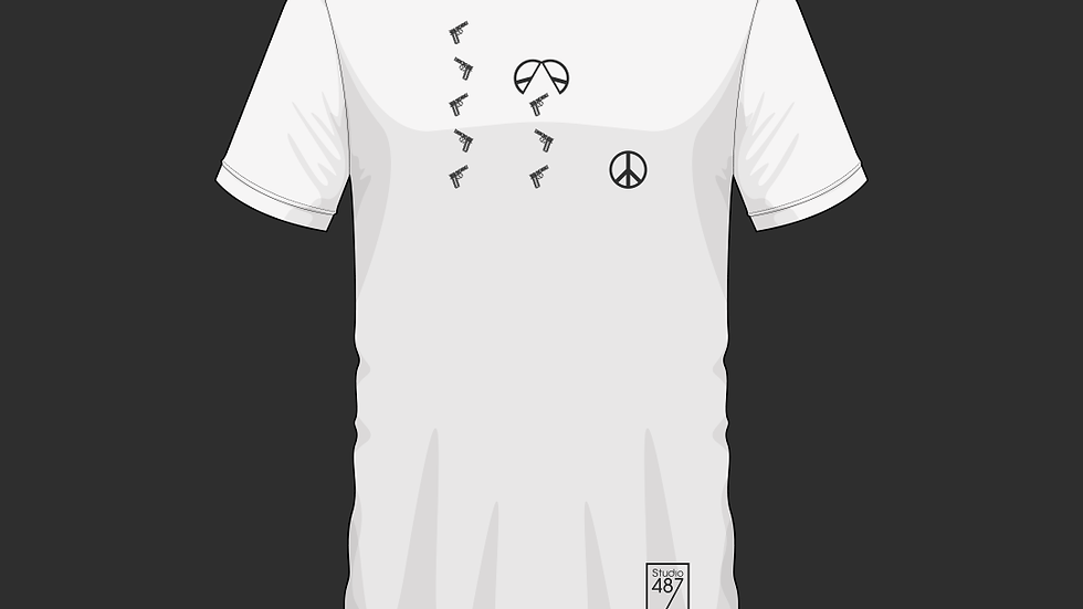 Tee-Shirt Peace (Blanc)