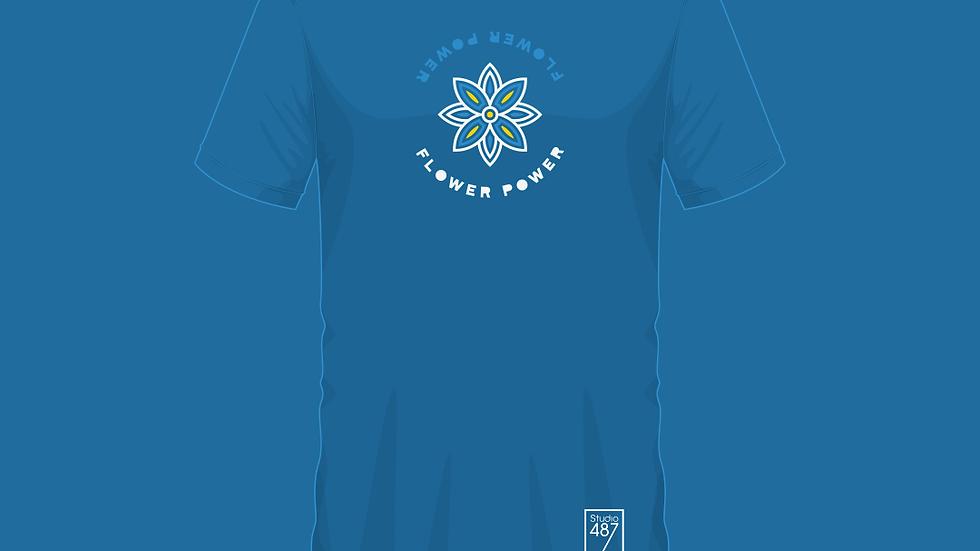Tee-Shirt Flower Power (Bleu)