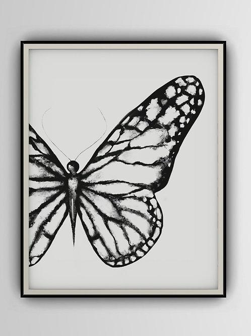 Butterfly Crop Art Print