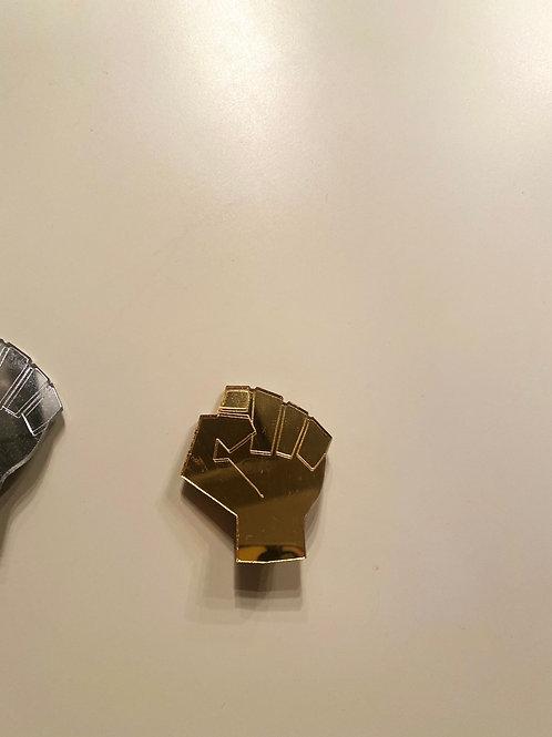 Mirrored Acrylic Fist of Solidarity Pin