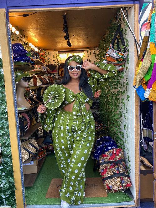 Green Cowrie Jumpsuit