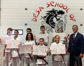 Congratulations to the students pictured here who successfully tested for Jr. Shodan in June 2021.