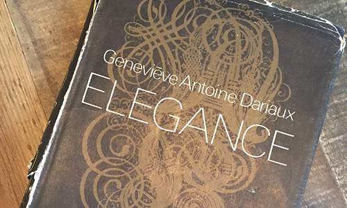first edition of Madame Dariaux's Elegance book, signed by author to Kathleen