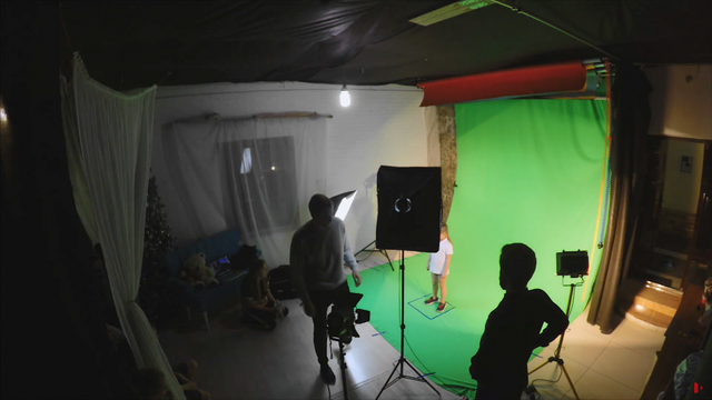 MAKING OF - CHILDREN. Green Screen. Timelapse