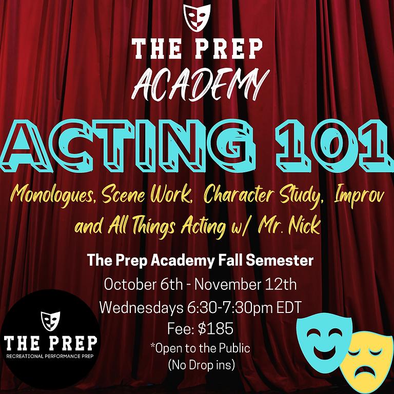 Acting 101-Prep Academy