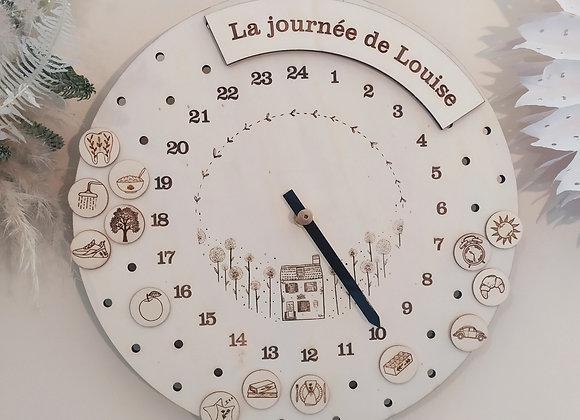 Horloge d'inspiration Montessori