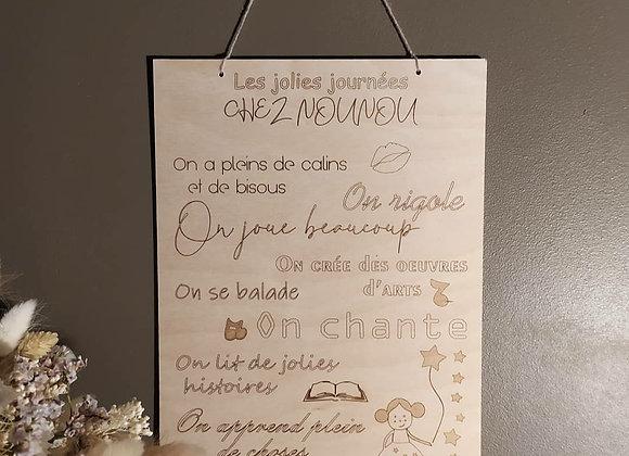 Pancarte / affiche nounou