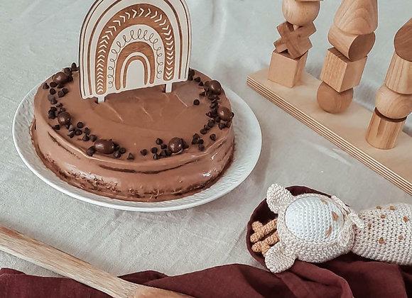 Cake topper Arc en ciel