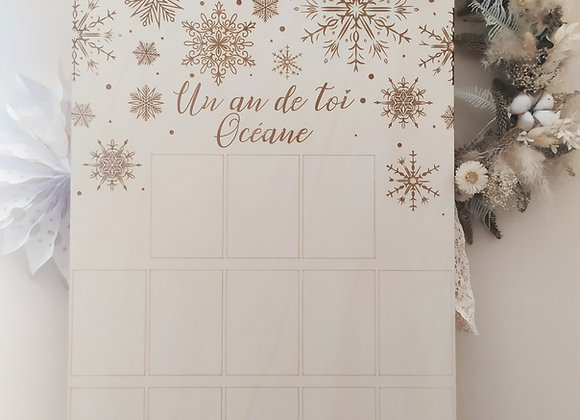 "Panneau ""Un an de toi"""