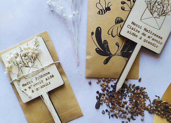 Merci nounou / maîtresse : Kit de graines à semer