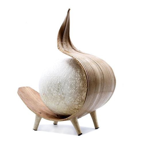 Naturalna lampa kokosowa
