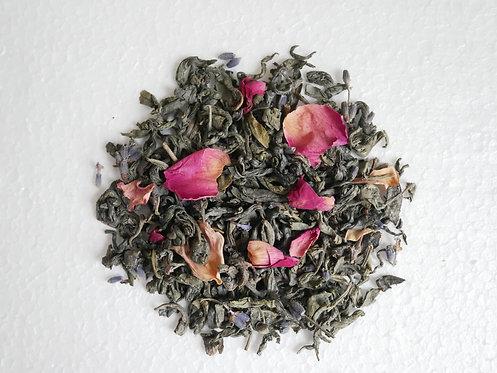 """Herbata zielona z lawendą i płatkami róży ,,Równowaga organizmu"""""""
