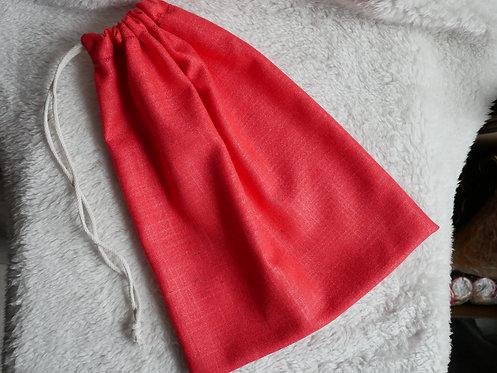 Woreczek lniany Czerwony: rozmiar S, M i L