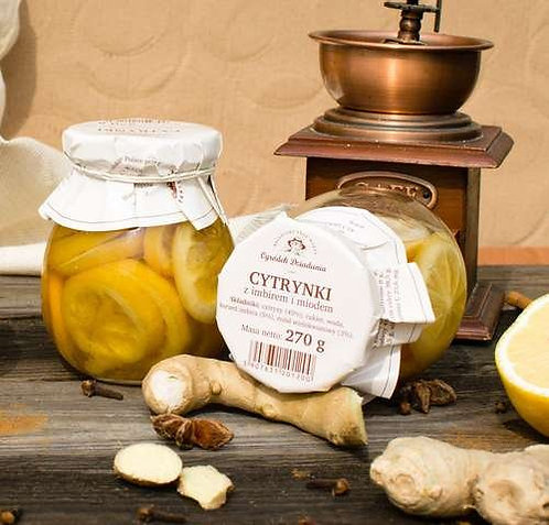 Cytrynki w syropie z miodem i imbirem