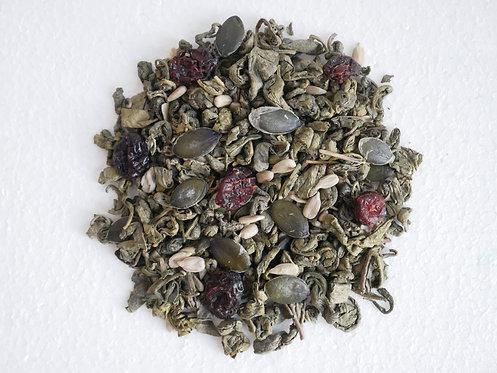 """Herbata zielona z żurawiną, słonecznikiem i pestkami dyni ,,Płodność i potencja"""""""