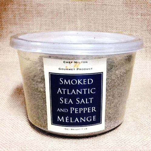 1 lb. Smoked Atlantic Sea Salt and Pepper Mélange & Sm Pocket Size Container