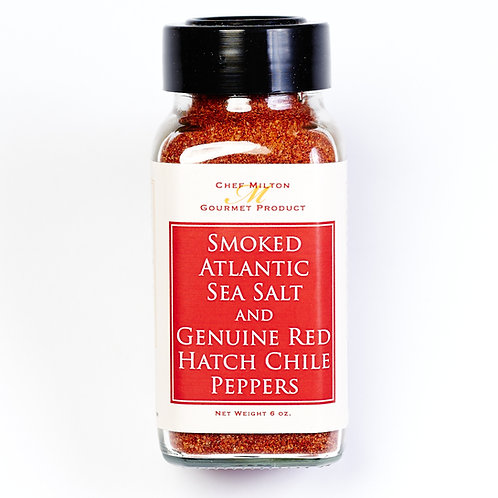 Smoked Sea Salt with Red Hatch Chile Peppers
