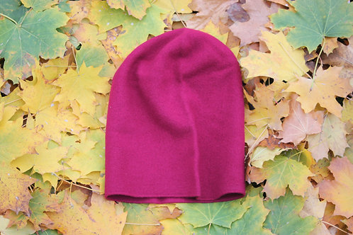Шапка-колпак розовато-лиловый