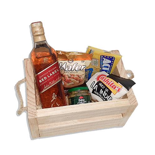 Canasta Botanera con Whisky