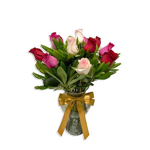 Clásico 12 Rosas Combinadas