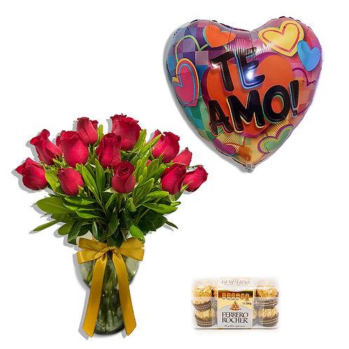 Combo 24 rosas rojas Amore Mio