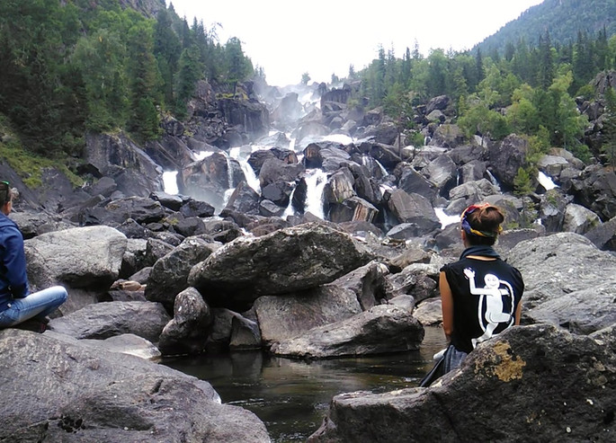 Водопад Учар. Алтай.