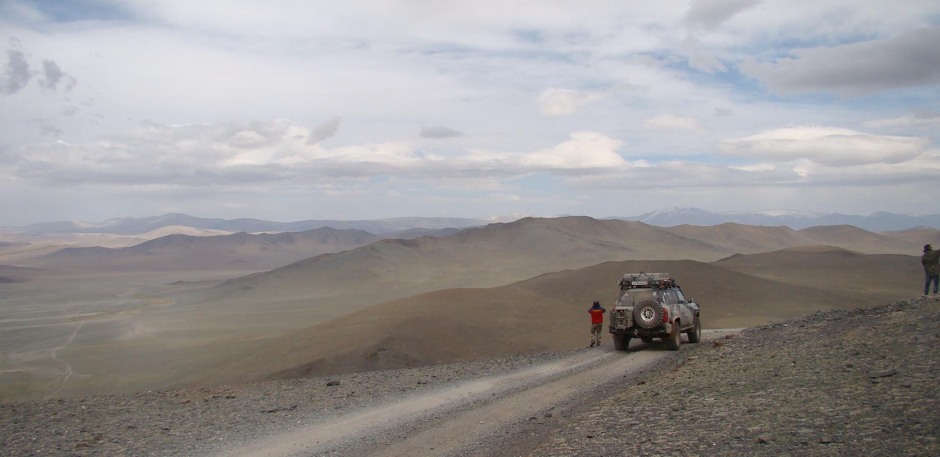 На перевале в Монголии.