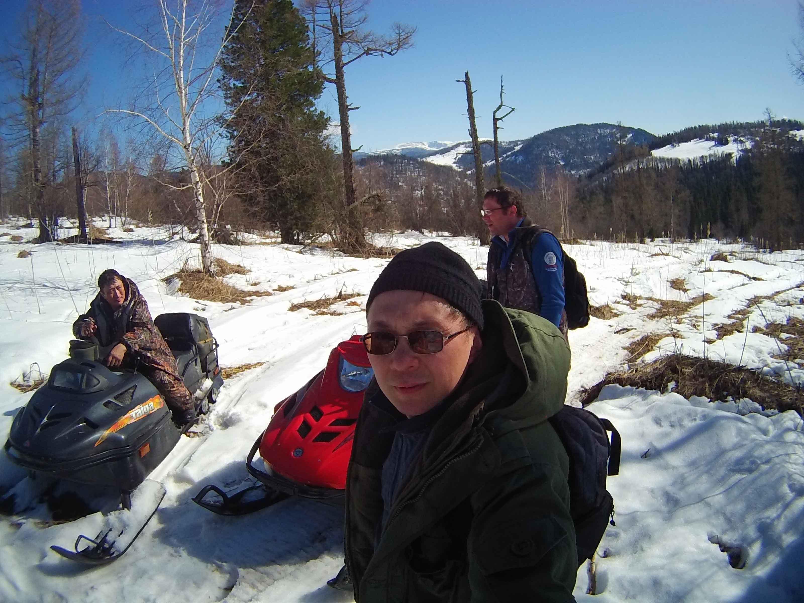 Снегоходные туры на Алтае.