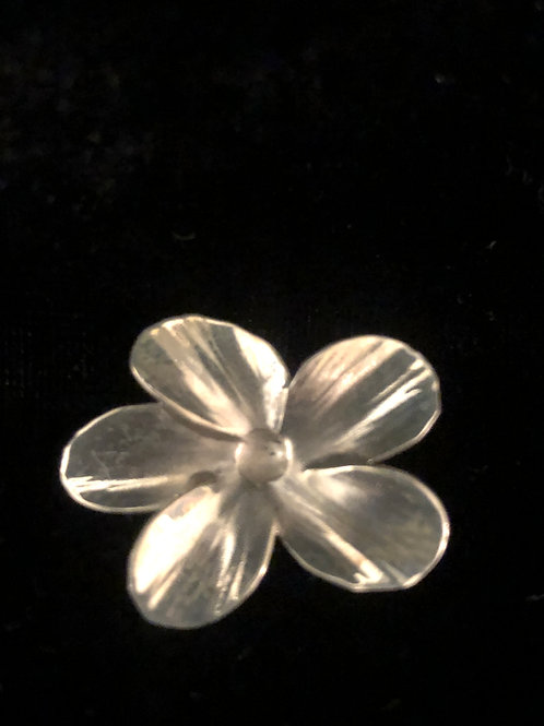 Vintage Sterling Silver Leaf Brooch