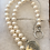 Thumbnail: Sterling Silver CC Charm pearl Necklace