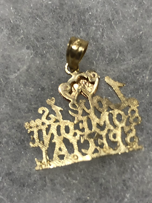 14K Gold Charm
