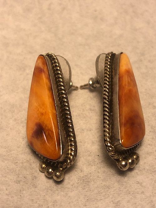 Sterling Silver WD Gem Stone Piered Earrings