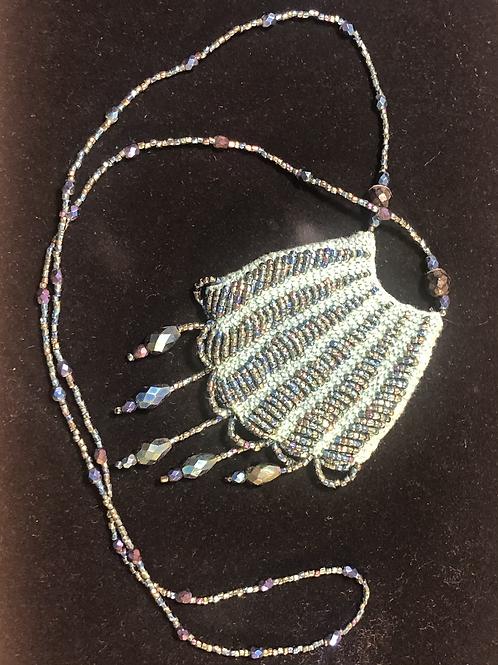 Antique beaded necklace purse