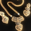 Thumbnail: Beautiful Gold Tone Necklace Set