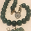 Thumbnail: Jade Necklace with Marching Pierced earrings