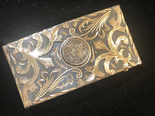 Sterling Silver Jalisco Mexico Belt Buckle