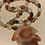 "Thumbnail: Large Glass Leaf 18"" Necklace"