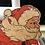 "Thumbnail: Vintage 1940""s Cardboard Santa"