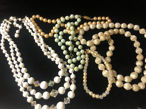 Vintage Mixed Pearl Necklaces